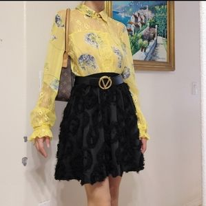 Nwt  Anthro Top and H&M skirt